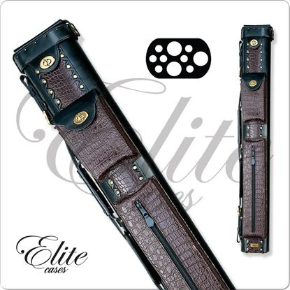Picture of ELITE ECL37 3X7 LEATHER HARD CUE CASE
