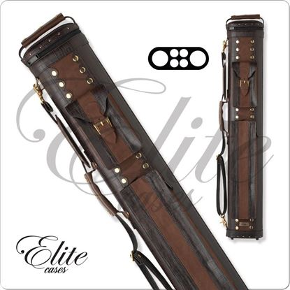 Picture of ELITE ECC24 2X4 CLASSIC LEATHER HARD CUE CASE