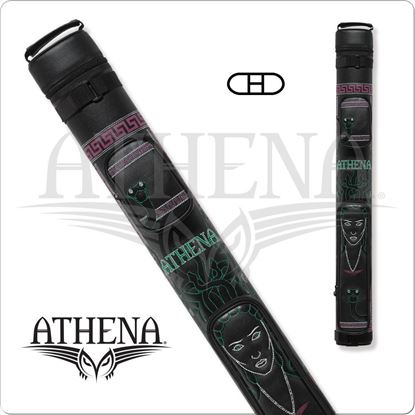 Picture of ATHENA ATHC07 2X2 HARD EMBROIDERED CUE CASE