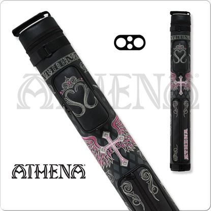 Picture of ATHENA ATHC06 2X2 HARD EMBROIDERED CUE CASE