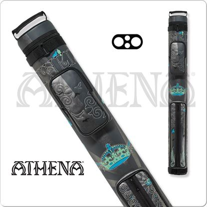 Picture of ATHENA ATHC05 2X2 HARD EMBROIDERED CUE CASE