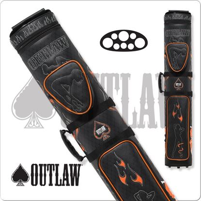 Picture of OUTLAW OLB35D STITCH FLAMES 3X5 HARD CUE CASE