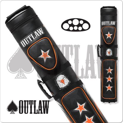 Picture of OUTLAW OLB35C STITCH EAGLE 3X5 HARD CUE CASE