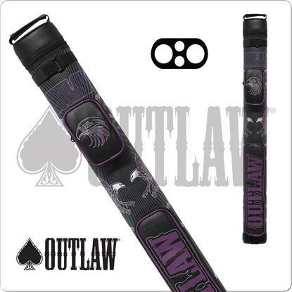 Picture of OUTLAW OLB22G STITCH PURPLE EAGLE 2X2 HARD CUE CASE