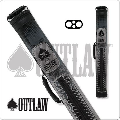 Picture of OUTLAW OLB22B 2X2 GREY TIRE TREAD HARD CUE CASE