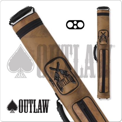 Picture of OUTLAW OLH22 2X2 HARD CUE CASE