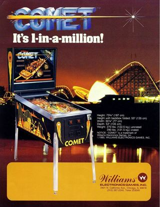 Picture of Comet Pinball Machine by Williams