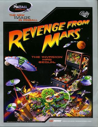 Picture of Revenge from Mars Pinball Machine by Bally