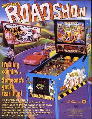 Picture of Red and Ted Road Show Pinball Machine By Williams