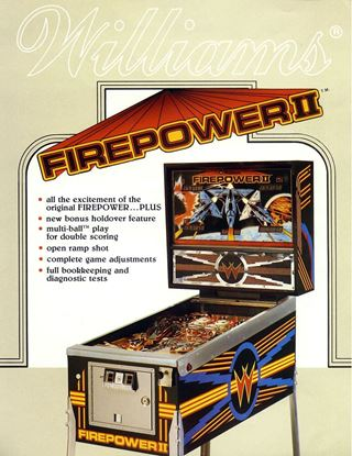 Picture of Firepower II Pinball Machine by Williams