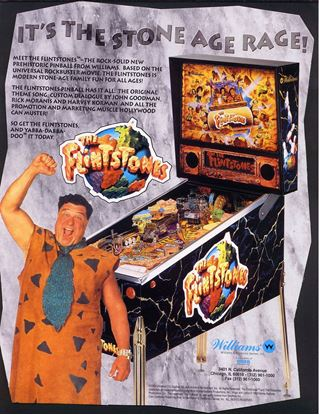 Picture of The Flintstones Pinball Machine By Williams