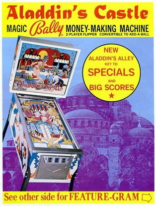 Picture of Aladdin's Castle Pinball Machine by Bally