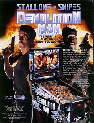 Picture of Demolish Man Pinball Machine By Williams