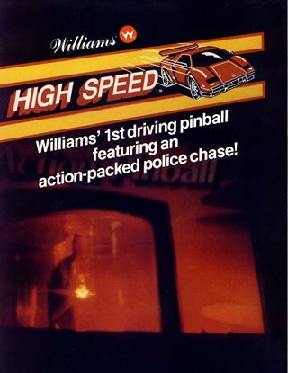 Picture of High Speed Pinball Machine By Williams