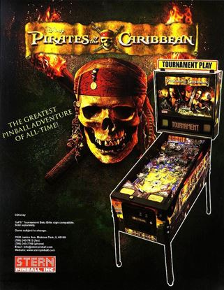 Picture of Pirates of the Caribbean Pinball Machine By Stern